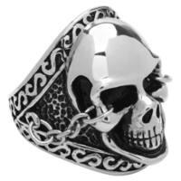 Men's Stainless Steel Classic Skull Biker Ring