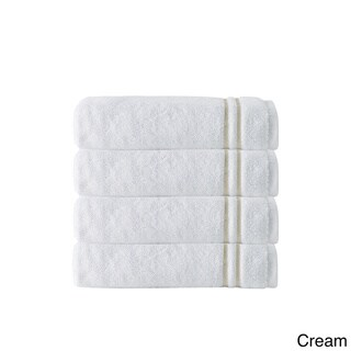 Broderie Embroidery 100-percent Turkish Cotton Hand Towels (Set of 4)