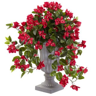Nearly Natural Bougainvillea with UV Resistant Urn