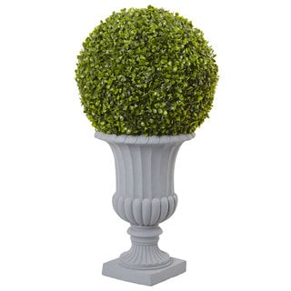Link to Green 2.5-foot Artificial Boxwood Topiary and Urn Similar Items in Decorative Accessories
