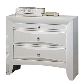 Acme Furniture Ireland White Rubberwood 2-drawer Nightstand With Pull-out Tray