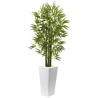 Nearly Natural Green/White Bamboo Tree