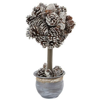 Nearly Natural Snowy Pinecone Top