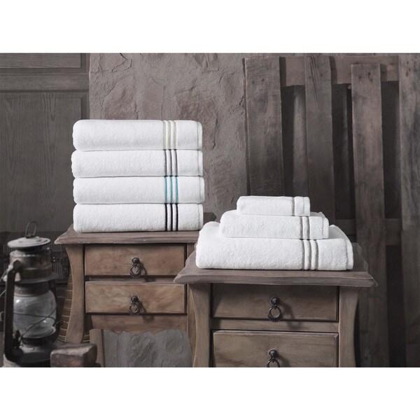 Broderie Embroidery 100% Turkish Cotton Wash Cloths (Set of 4) - Washcloths 12 x 12