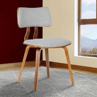 Palm Canyon Miramonte Mid-century Walnut Wood and Fabric Dining Chair
