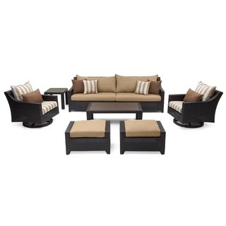 RST Brands Deco Deluxe 8-piece Maxim Beige Sofa and Club Chair Set