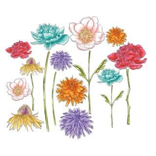 Sizzix Tim Holtz Framelits Flower Garden Die Set (18 Pack)