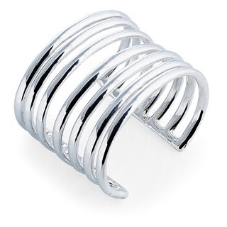 Handcrafted Sterling Silver Strands Cuff (Israel)