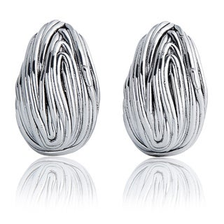 Silver Liquid Omega Post Earrings (Israel)