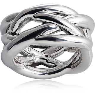 Handcrafted Silver Intertwine Ring (Israel)