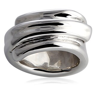Handcrafted Silver Wide Thin Ring (Israel)