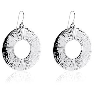 Silver Washer Hook Earrings (Israel)