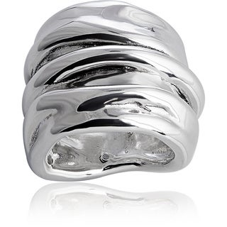 Handcrafted Sterling Silver Melt Ring (Israel)