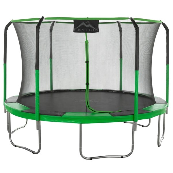 SKYTRIC 11 ft. Trampoline with Top Ring Enclosure System with Easy Assemble