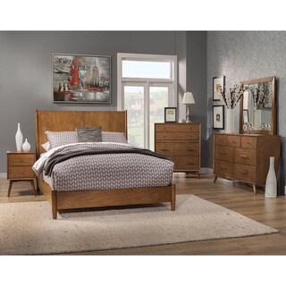 Alpine Flynn Mid-century Wood/Veneer 2-drawer Nightstand