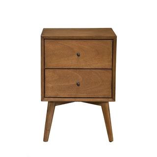 Strick U0026 Bolton Marsalis Mid Century Wood/ Veneer 2 Drawer Nightstand