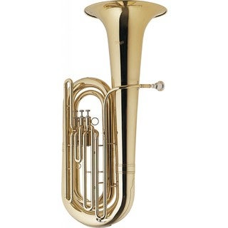 Stagg Brass B-flat Tuba With Case on Wheels