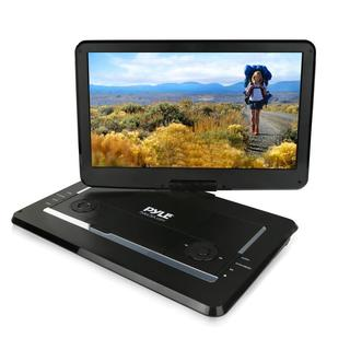 Pyle PDV156BK Portable CD/DVD Player HD Widescreen Display Built-in Rechargeable Battery