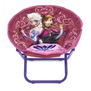 Disney Frozen Kids' Metal and Polyester Saucer Chair