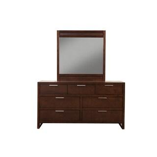 Alpine Brown Wood/Veneer Urban Dresser Mirror