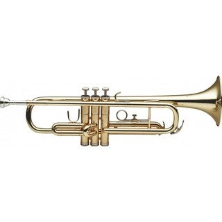 Stagg Goldtone Brass/Stainless Steel Trumpet with ABS Case