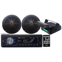 Pyle KTMRGS14 In-Dash Marine AM/FM Radio USB SD Aux-In for iPod/MP3 Stereo Player Receiver