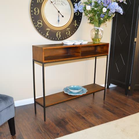 Brown Wood/Metal Ingrid Console