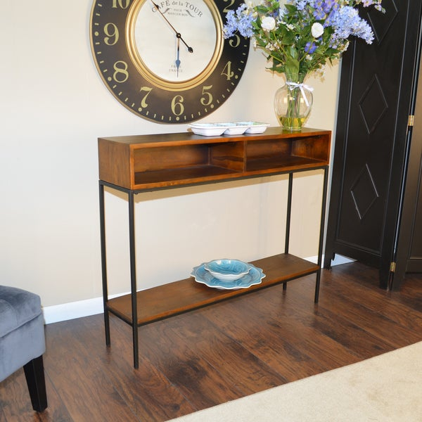 Brown Wood/Metal Ingrid Console