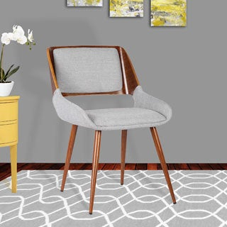 Armen Living Panda Walnut Wood Mid-Century Dining Chair