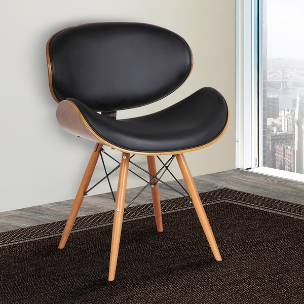 Superbe Armen Living Cassie Mid Century Dining Chair In Walnut Wood