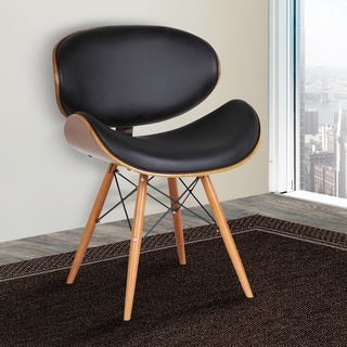 Armen Living Cassie Mid-Century Dining Chair in Walnut Wood