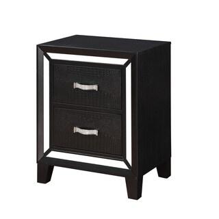 Acme Furniture Elberte Black Wood 2-drawer Nightstand