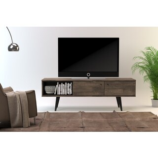 Midtown Concept MDF Mid-century 2-Cabinet TV Stand (Option: Beige)