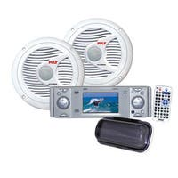 Pyle KTMRGS21 AM/FM-MPX In-Dash Marine CD/MP3 Player with Full Face Detachable Panel