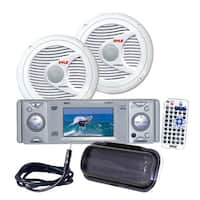 Pyle KTMRGS23 AM/FM-MPX In-Dash Marine CD/MP3 Player w/Full Face Detachable Panel