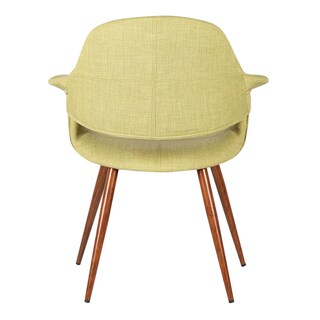 Armen Living Phoebe Walnut Wood Mid-Century Dining Chair