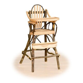 Rustic Hickory and Oak Child's High Chair