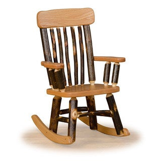 Rustic Hickory OR Hickory & Oak Twig Back Childrens' Rocking Chair