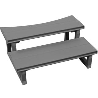 Cal Flame Plastic/ Metal 30-inch 2-tier Round Spa Steps
