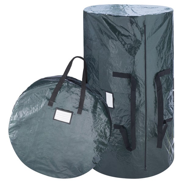 shop elf stor deluxe green christmas tree storage bag and 30 inch inch wreath bag free. Black Bedroom Furniture Sets. Home Design Ideas