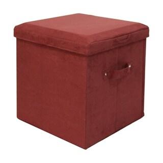 Microsuede Folding Storage Ottoman