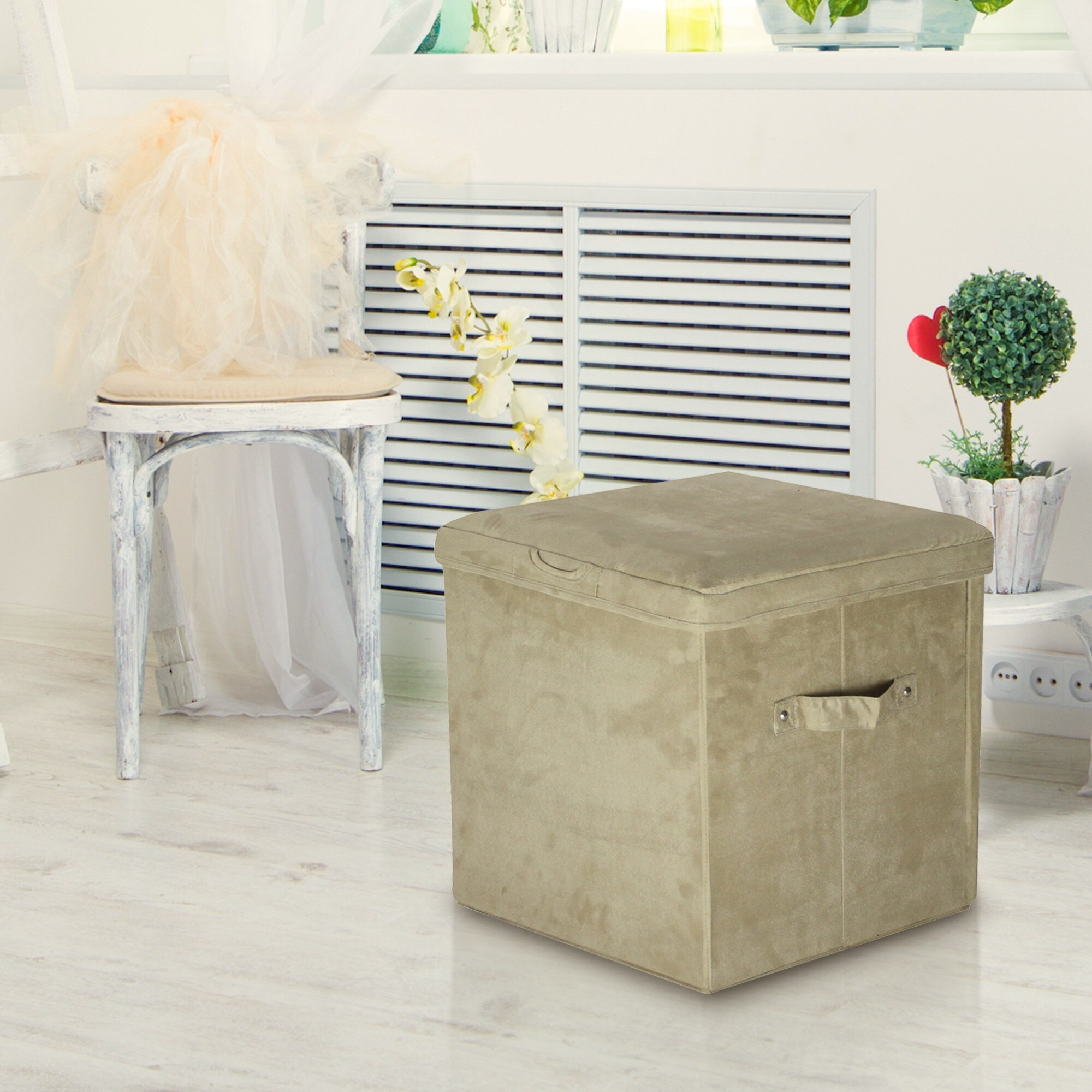 Remarkable Microsuede Folding Storage Ottoman Pabps2019 Chair Design Images Pabps2019Com