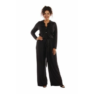 Elegant Silky Soft Plus Size Jumpsuit