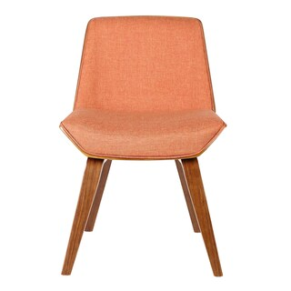 Palm Canyon Cruz Mid-century Walnut Wood and Fabric Dining Chair