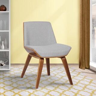 Carson Carrington Skanderborg Mid-century Walnut Wood and Fabric Dining Chair