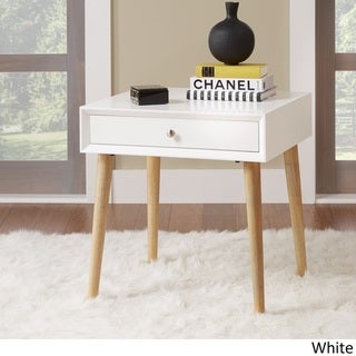 MID-CENTURY LIVING Marin Danish Modern 1-drawer Accent End Table