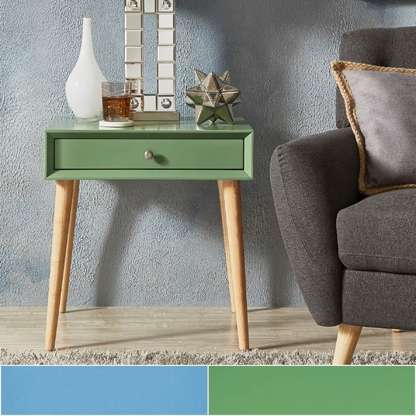 Shop Marin Danish Modern 1 Drawer Accent End Table Inspire