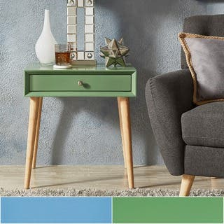 bedroom side tables. Marin Danish Modern 1 drawer Accent End Table iNSPIRE Q Nightstands  Bedside Tables For Less Overstock com