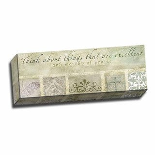Picture It on Canvas 'Think Excellent Thoughts' Wrapped Canvas Art