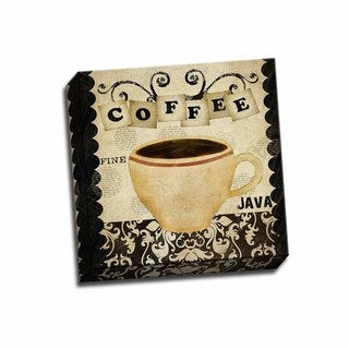 Picture It on Canvas 'Coffee Fine Java' 12x12 Wrapped Canvas Art